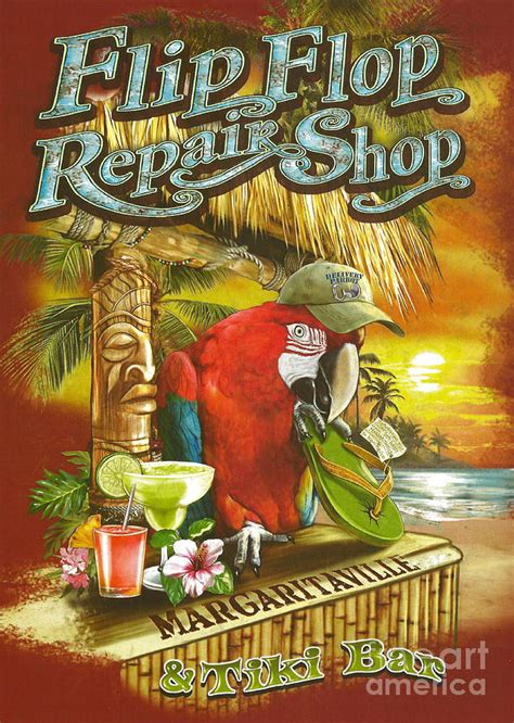 Margaritaville Home Decor by Jimmy Buffett S Flip Flop Repair Shop Photograph By