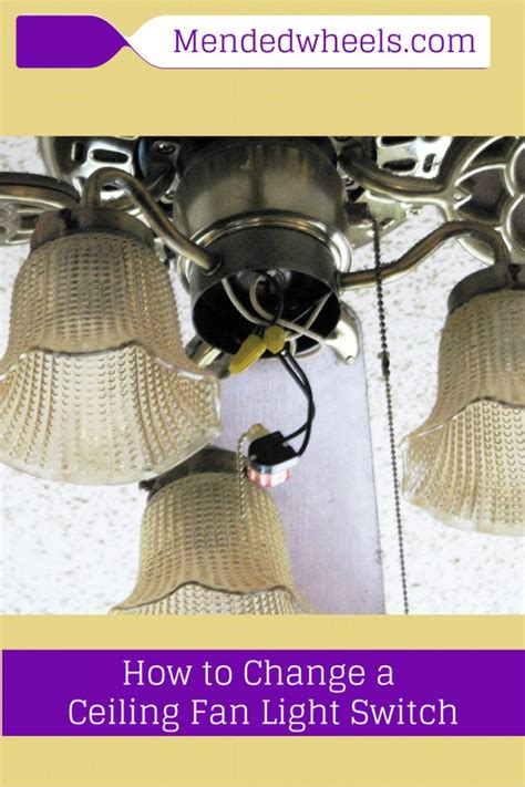 How To Change Out A Ceiling Fan by How To Replace The Switch On A Ceiling Fan Pull Chain