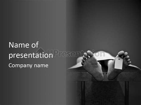 Autopsy Creepy Malpractice Powerpoint Template Id 0000036079 Upresentation Com Creepy Powerpoint Backgrounds