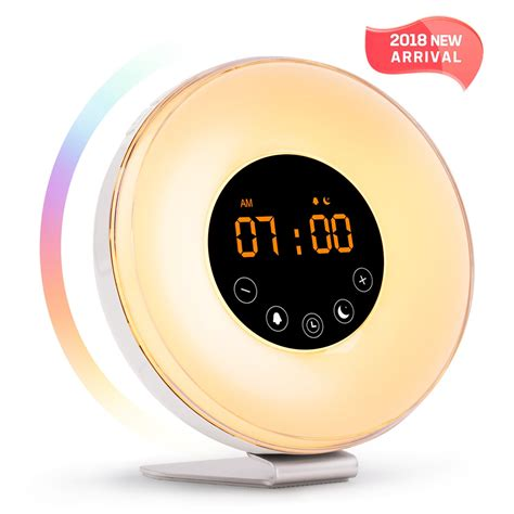 alarm clock up light led clock with
