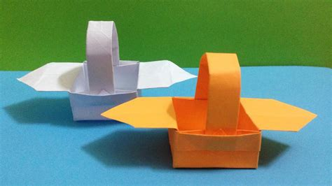 Origami Paper Basket - paper origami paper basket
