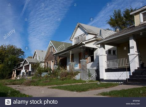 side by side houses abandoned homes west side of detroit michigan usa stock photo royalty free image