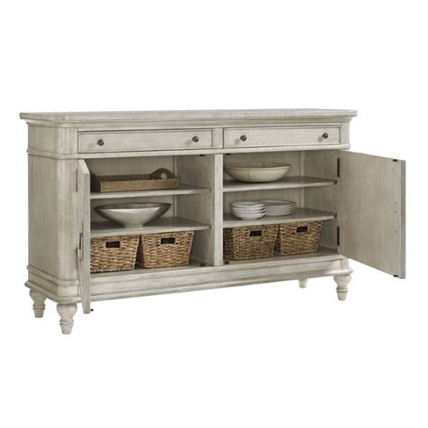 Buffet Table L by Oyster Bay Oakdale Wood Buffet Table In Oyster 714 852