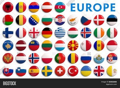 reajustedaspensoes da rffsa em 2016 all europe countries flags image photo bigstock