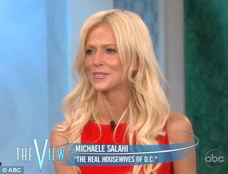 real housewives of d c michaele salahi gets married on whoopi goldberg and real housewife star in hitting row