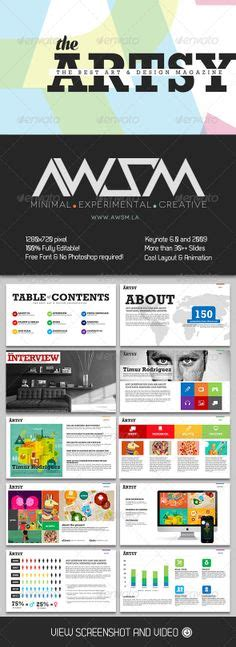 Presentation Design Presentation And Info Graphics On Pinterest Interactive Magazine Template