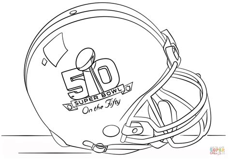 super bowl 2016 helmet coloring page free printable