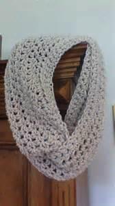 Beige Infinity Scarf Crocheted Neutral Beige Infinity Scarf