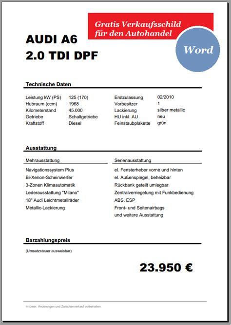 Muster Rechnung Verkauf Pkw Kfz Vorlagen Autofreund24 Part 2