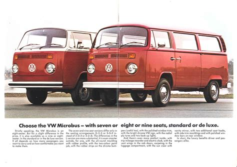 1974 volkswagen bus thesamba com vw archives 1974 vw bus sales brochure