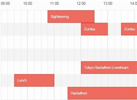 js responsive layout generating responsive timetables in vanilla javascript