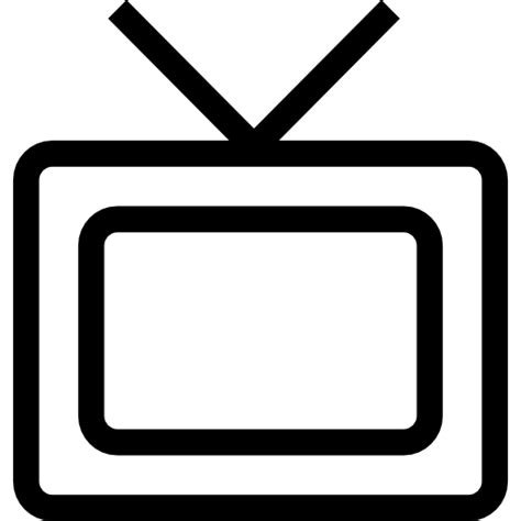 Tv Outline Png by Tv Monitor Outline Free Tools And Utensils Icons