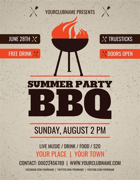 summer cocktails premium flyer template facebook cover
