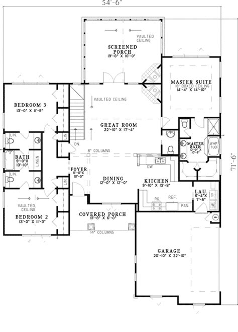 Canyon Creek Rustic Ranch Home Plan 055d 0821 House Rustic House Plans Level 1
