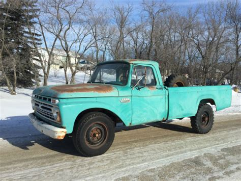 100 Floors Fe 66 by Ford Other Standard Cab 1966 Green For Sale