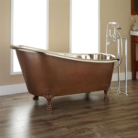 copper bathtubs for sale sale 59 quot norah copper slipper tub w nickel interior