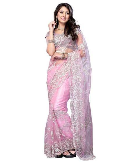 Orderan A N Sari parul sarees pink net saree buy parul sarees pink net saree at low price snapdeal