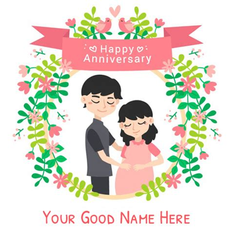 Wedding Anniversary Message With Name by Happy Anniversary Greeting Card With Name