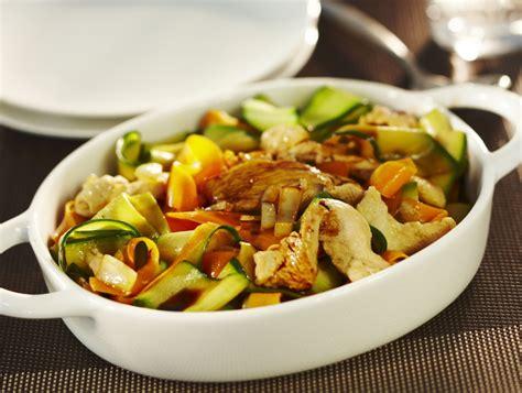 comment cuisiner les 駱inards frais tagliatelles de carottes courgettes et aiguillettes de