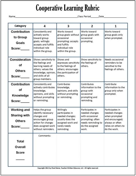 workflow assessment checklist cooperative learning 7 free pdf assessment instruments