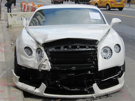 wrecked bentley for sale image wrecked 2013 bentley continental gt at the curb on