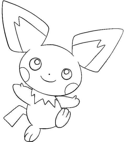 pokemon coloring pages pichu image gallery pichu drawings