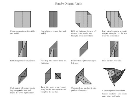 Origami Units - sonobe origami polyhedra