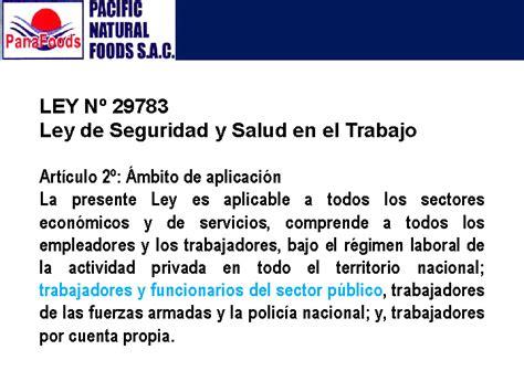 ley del trabajo en venezuela y la seguridad y salud laboral seguridad y salud ocupacional panafoods s a c powerpoint