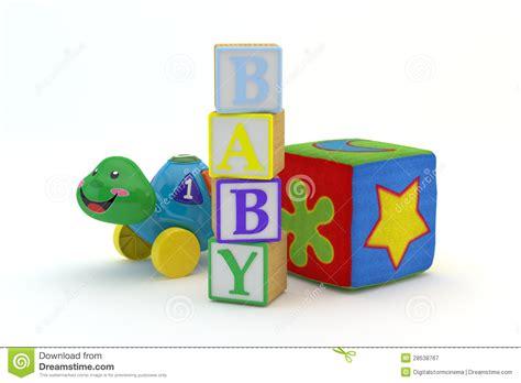 wood toy blocks spelling baby royalty  stock
