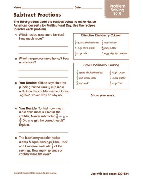 adding and subtracting fractions word problems worksheets 7th grade fraction problem solving worksheets how to solve a fraction multiplication problem order essay