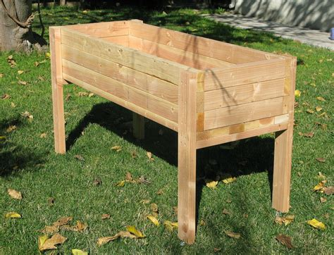 raised planter box living green planters portable elevated planter box