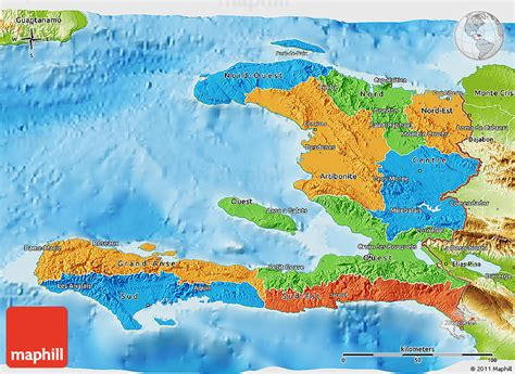 physical map of haiti political 3d map of haiti physical outside