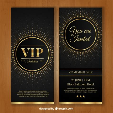 vip card template vip invitation template vector free