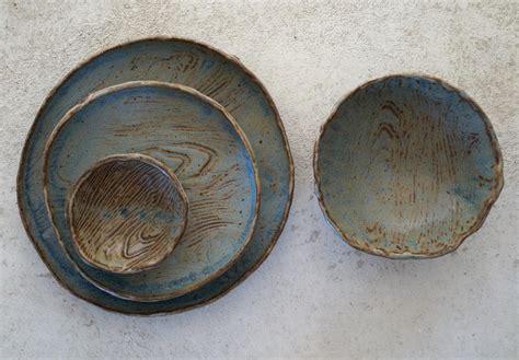 Handmade Pottery Dinner Plates - handmade ceramic dish set ceramic dinner plates serving
