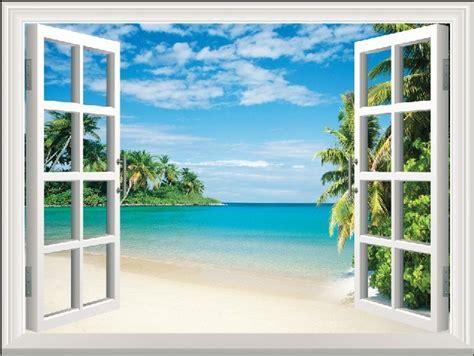 fake window outside house diy window scenery outside fake windows sticker 50 70cm