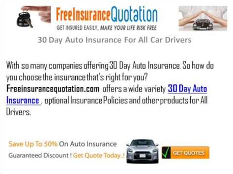 All Auto Insurance by 30 Day Auto Insurance For All Car Drivers
