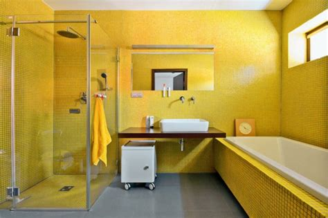 Bathroom Designs Pinterest Wandfarbe Gelb Eine Sonnige Stimmung Im Badezimmer Haben