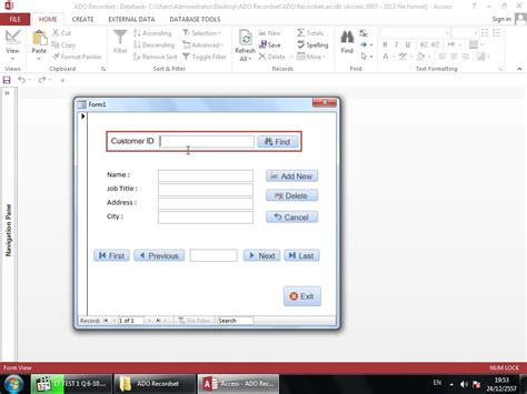 visio vba programming access vba programming ado recordsets for beginners part 1 4