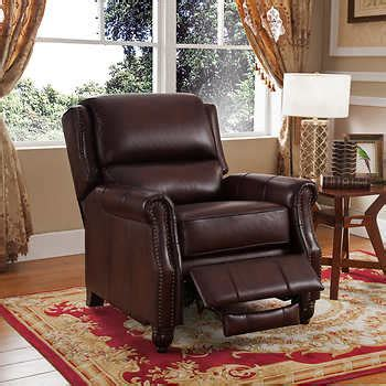 child leather recliner costco tiziano brown top grain leather recliner