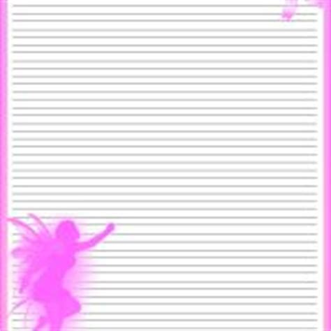 printable fairy stationary pink fairy stationery