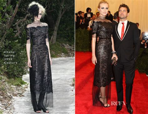 Catwalk To Carpet Diane Kruger In Chanel by Diane Kruger In Chanel Couture 2013 Met Gala