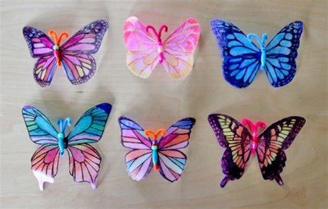 Papercraft Butterfly - milk jug decorative window crafts alpha