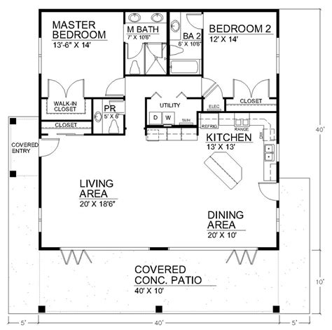 small house floorplans i like the open floor plan but it would need another