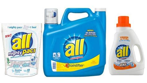 Free All Detergent Printable Coupons