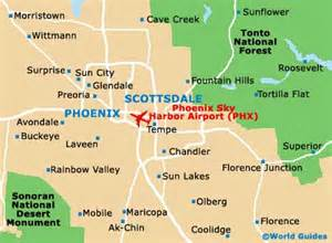 map of sky harbor airport phx orientation and