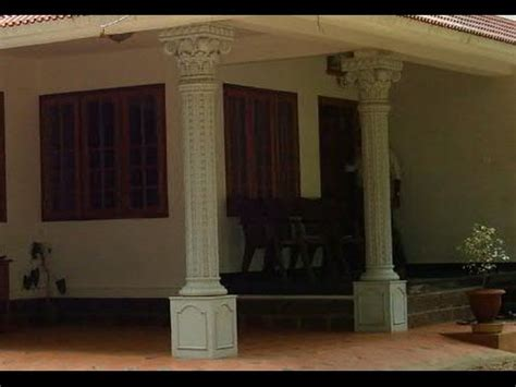 House Plans With Front Porch by Kerala House Design Work In Car Porch Youtube