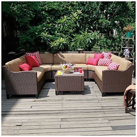 Wilson Fisher 174 Riviera Resin Wicker 6 Piece Modular Wilson And Fisher Wicker Patio Furniture