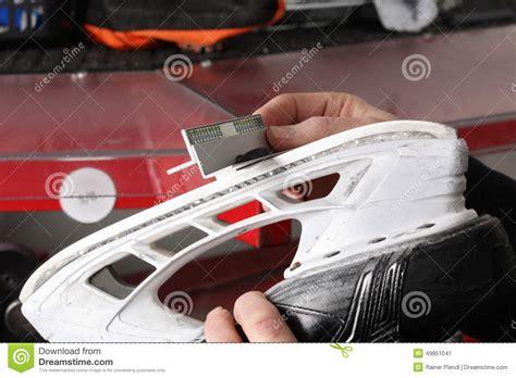 sharpened blade skate sharpening stock photo image 49851041