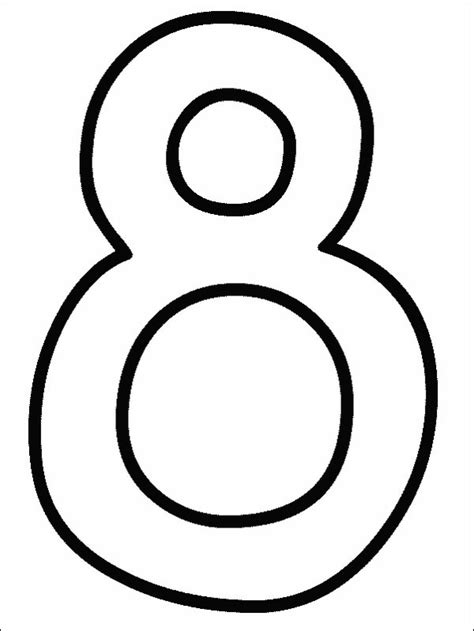 Coloring Page Number 8 by Coloring Pages Of Numbers 1 10