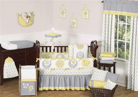 yellow and gray crib bedding yellow and grey nursery bedding